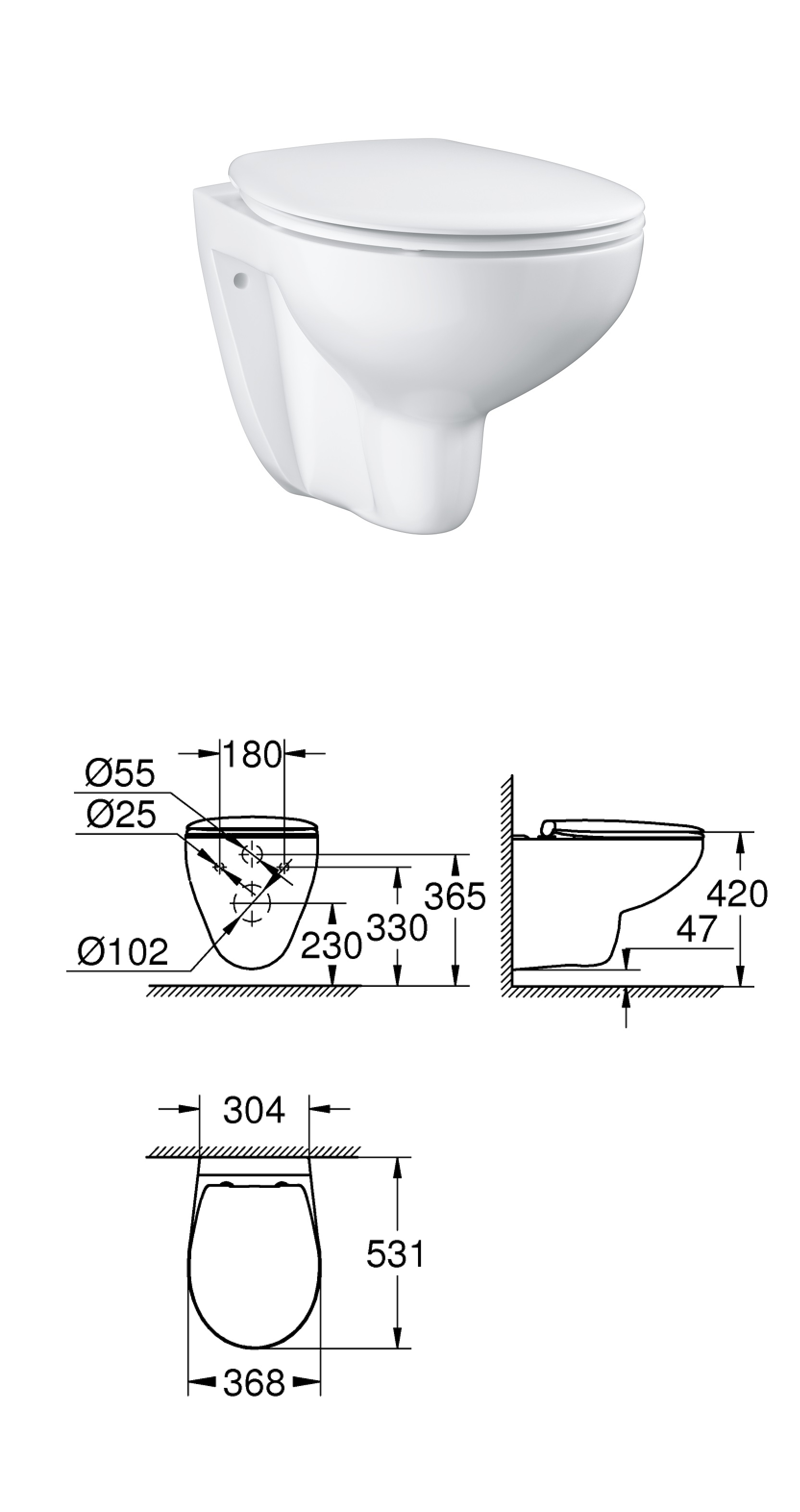 Wc Suspendu Grohe Dimension wc suspendu grohe dimension